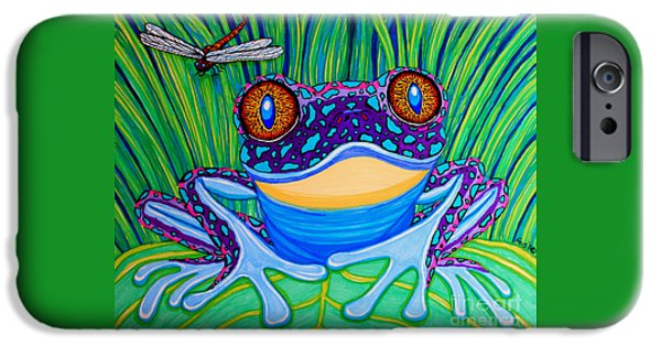 Amphibians iPhone Cases - Bright Eyed Frog iPhone Case by Nick Gustafson