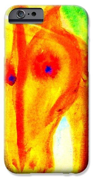 Bright eyes burning   iPhone Case by Hilde Widerberg