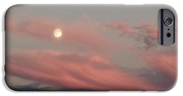 Moon Pyrography iPhone Cases - Bright Moon iPhone Case by Maryann  Shikitino