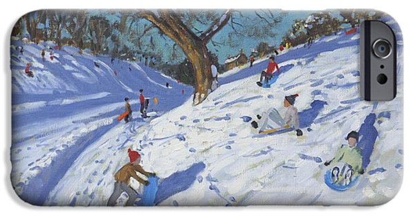 White Christmas iPhone Cases - Bright morning   Chatsworth iPhone Case by Andrew Macara