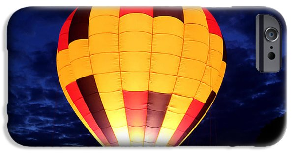 Hot Air Balloon iPhone Cases - Bright Night Flight iPhone Case by Marty Fancy