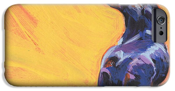 Dachshund Art iPhone Cases - Bright Sunny Day iPhone Case by Lea