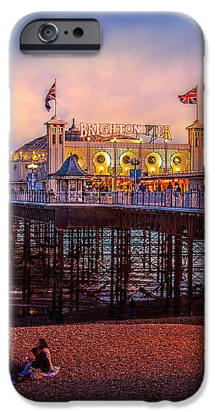 Brighton's Palace Pier at Dusk iPhone Case by Chris Lord
