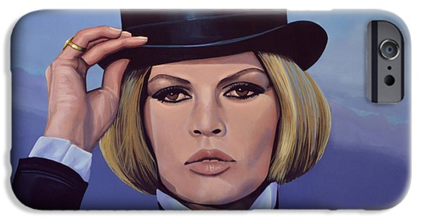 Private iPhone Cases - Brigitte Bardot Blue iPhone Case by Paul  Meijering