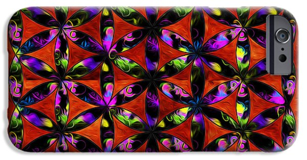 Flower Of Life Digital Art iPhone Cases - Brilliant Flower of life iPhone Case by Denise Teague