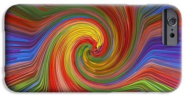 Spectrum Mixed Media iPhone Cases - Brilliant Scientific Balanced Manadala Style Twril Mandala Graphic spectrum reiki healing graphic co iPhone Case by Navin Joshi