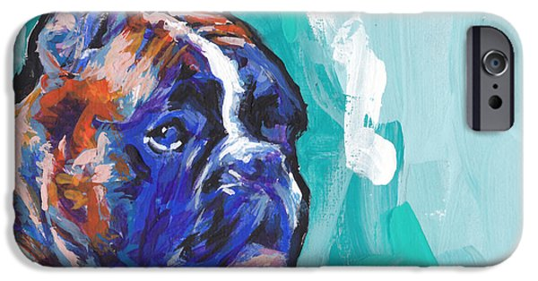 Boxer Dog iPhone Cases - Brindle Boxer Baby iPhone Case by Lea