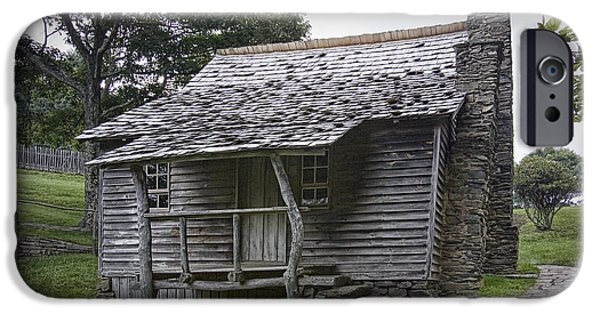 Log Cabin Photographs iPhone Cases - Brinegar Cabin in the Blue Ridge Parkway iPhone Case by Randall Nyhof