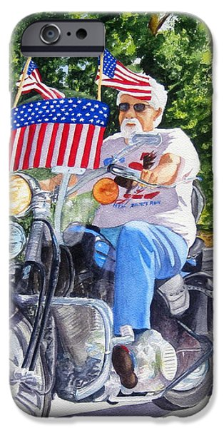 Independence Day Paintings iPhone Cases - Bring on the Parade iPhone Case by Julia Rietz