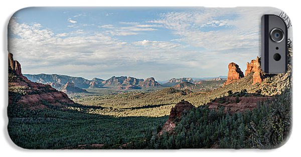 Cathedral Rock iPhone Cases - Brins Mesa 04-033P iPhone Case by Scott McAllister