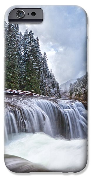 Snow iPhone Cases - Brisk Winter Morning iPhone Case by Darren  White