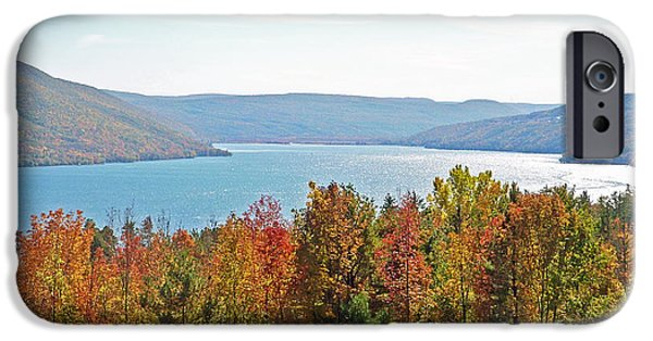 Upstate New York iPhone Cases - Bristol Harbour View iPhone Case by Aimee L Maher Photography and Art