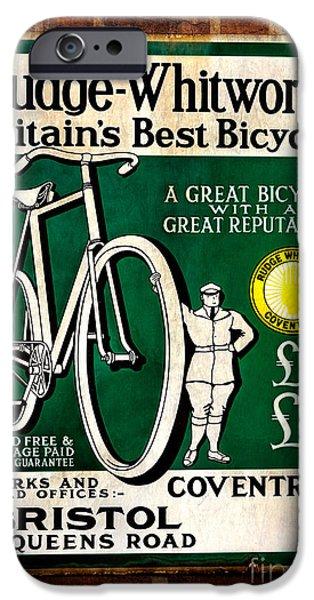 Vintage Bicycle iPhone Cases - Britains Best Bicycle iPhone Case by Adrian Evans