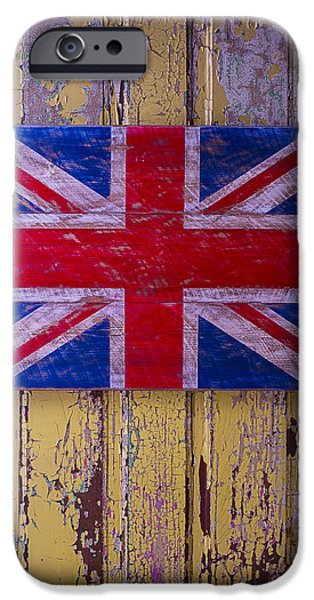 Chip iPhone Cases - British Folk Art Flag iPhone Case by Garry Gay