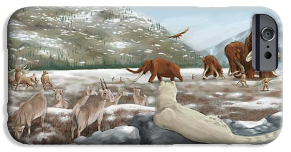Evolution Of Humanity iPhone Cases - British Landscape With Various iPhone Case by Alice Turner