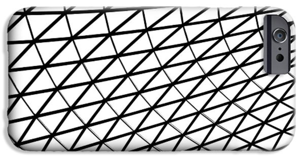 Bw iPhone Cases - British Museum Geometry iPhone Case by Rona Black