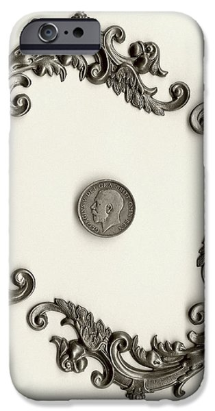 British Shilling Wall Art Version 1 iPhone Case by Joseph Baril