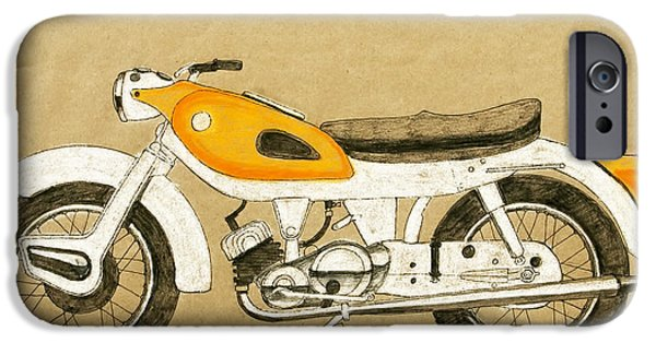 Racing Pastels iPhone Cases - British two stroke iPhone Case by Stephen Brooks