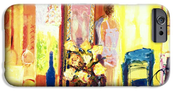 Interior Still Life iPhone Cases - Brittany, 2001 Acrylic On Canvas iPhone Case by Martin Decent