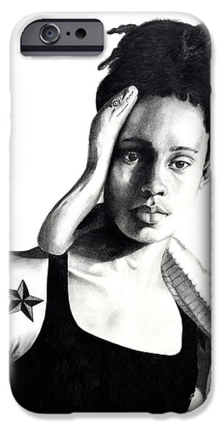 All American Drawings iPhone Cases - Brittney Griner Taboo iPhone Case by Devin Millington