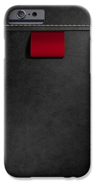 Sew iPhone Cases - Broad Clothing Label In Black Leather iPhone Case by Allan Swart