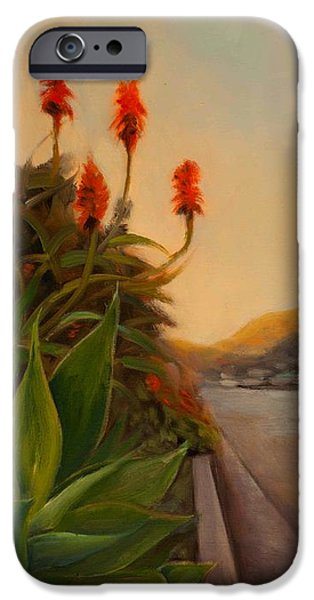 Streetscape Paintings iPhone Cases - Broadview East iPhone Case by Athena Mantle