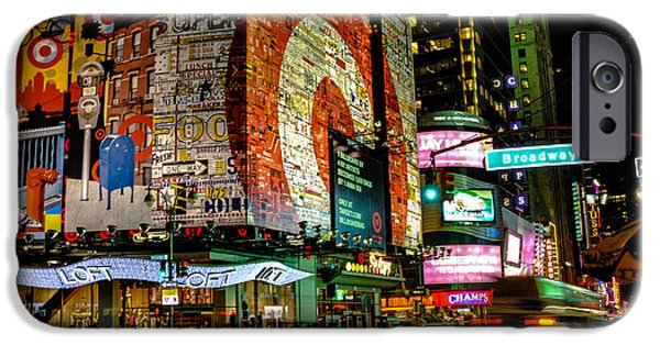 Consumerproduct iPhone Cases - Broadway Lights iPhone Case by Alex Hiemstra