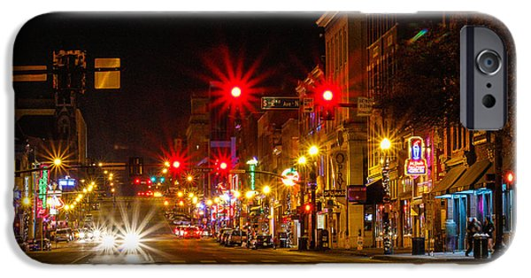 Scoot iPhone Cases - Broadway Music City iPhone Case by Robert Hebert