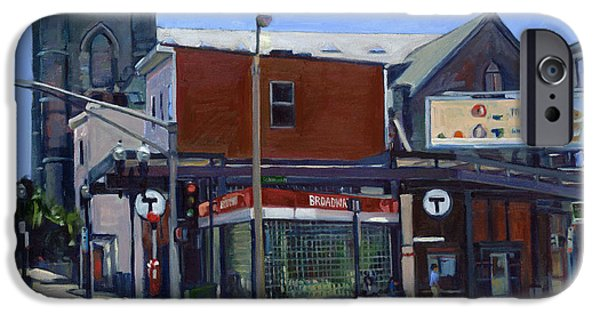 Print On Canvas iPhone Cases - Broadway Station iPhone Case by Deb Putnam