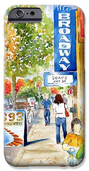 Autumn Scenes iPhone Cases - Broadway Theatre - Saskatoon iPhone Case by Pat Katz
