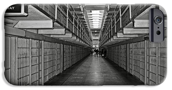 Scarface iPhone Cases - Broadway walkway in Alcatraz prison iPhone Case by RicardMN Photography