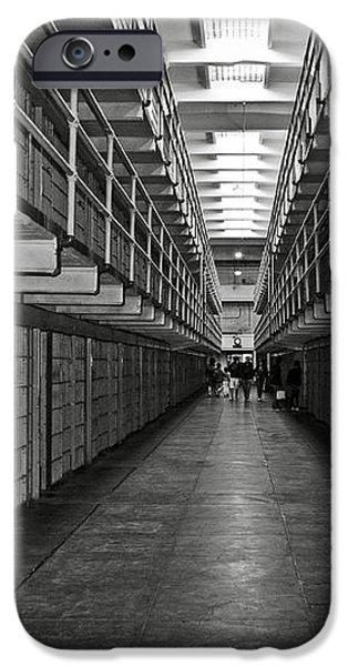 Broadway walkway in Alcatraz prison iPhone Case by RicardMN Photography