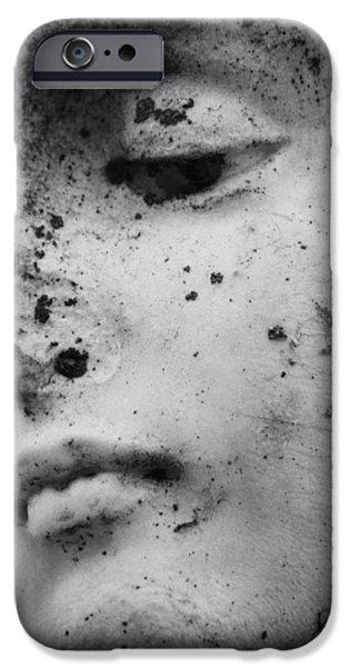 Statue Portrait iPhone Cases - Broken Angel iPhone Case by Jerry Cordeiro