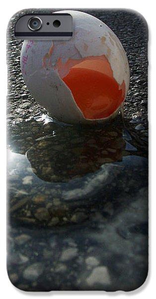 Asphalt iPhone Cases - Broken egg iPhone Case by Matthias Hauser