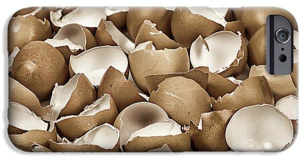 Fragility iPhone Cases - Broken eggshells iPhone Case by Elena Elisseeva