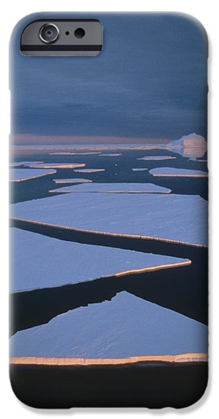 Broken Fast Ice Under Midnight Sun East iPhone Case by Tui De Roy