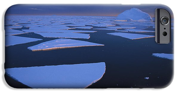 Approaching Storm iPhone Cases - Broken Fast Ice Under Midnight Sun iPhone Case by Tui De Roy