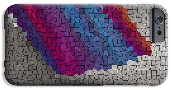 Colorful Abstract Ceramics iPhone Cases - Broken Glass iPhone Case by Gabriele Mueller