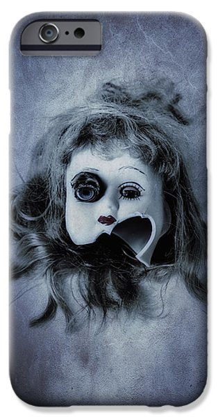 Dolls iPhone Cases - Broken Head iPhone Case by Joana Kruse