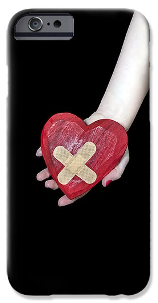 Sickness iPhone Cases - Broken Heart iPhone Case by Joana Kruse
