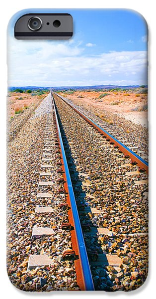 Broken iPhone Cases - Broken Hill Railway Line  iPhone Case by Bill  Robinson