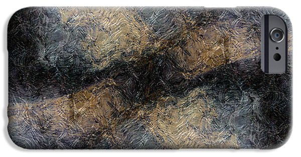 Abstract Forms iPhone Cases - Broken iPhone Case by James Barnes