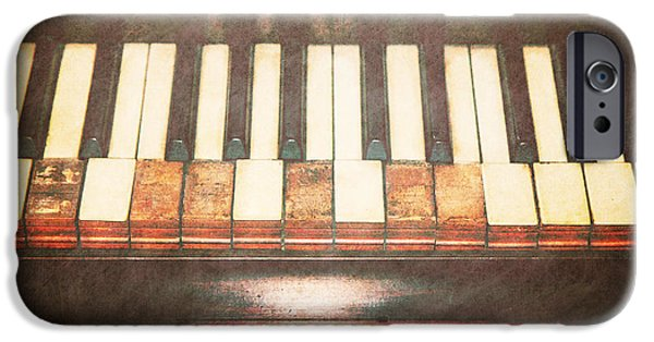Piano iPhone Cases - Broken Keys  iPhone Case by Emily Enz