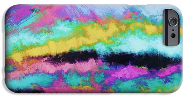 Loose Style Digital iPhone Cases - Broken sky iPhone Case by Keith Mills