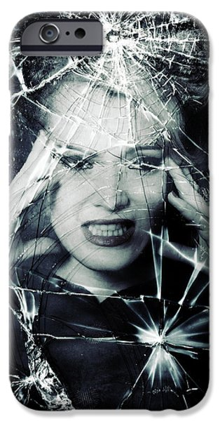Fragment iPhone Cases - Broken Window iPhone Case by Joana Kruse
