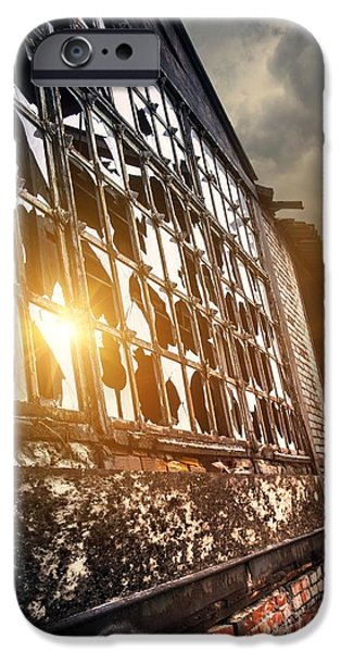 Messy Photographs iPhone Cases - Broken Windows iPhone Case by Carlos Caetano