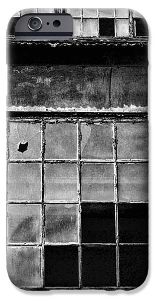 Broken Windows in Black and White iPhone Case by Paul Ward