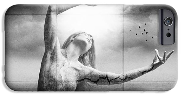Concept Photographs iPhone Cases - Broken World iPhone Case by Erik Brede