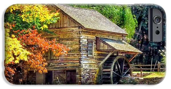 Painter Photographs iPhone Cases - Bromley Mill at Cuttalossa Farm iPhone Case by Carolyn Derstine