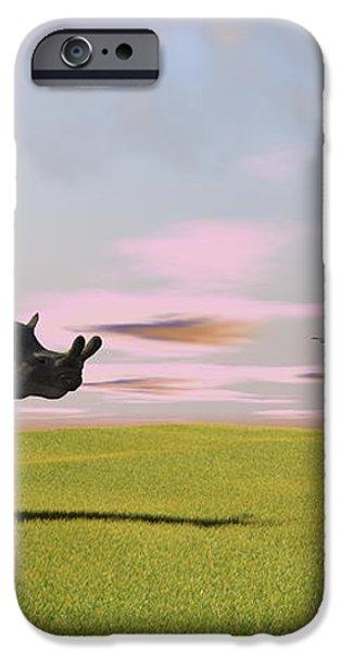 Brontotherium Grazing In Prehistoric iPhone Case by Kostyantyn Ivanyshen